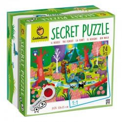 Ludattica Puzzle s lupou - Lesní zvířátka - 24 dílů