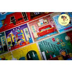 Ludattica Puzzle s lupou - Domeček - 108 dílů