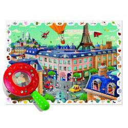 Ludattica Puzzle s lupou - Město - 108 dílů