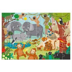 Ludattica Obří podlahové puzzle - Veselá džungle 48 dílů