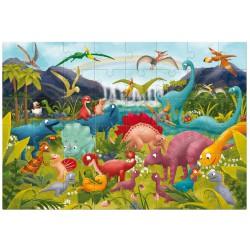Ludattica Obří podlahové puzzle - Dinosauři 48 dílů