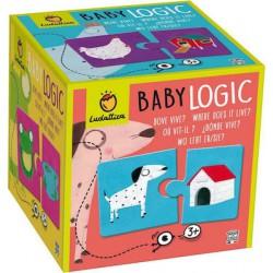 Ludattica Duo puzzle Baby logic - Kde bydlí zvířátka