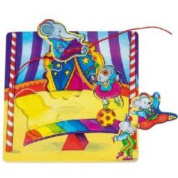 Provlékací puzzle – Cirkus