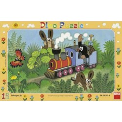 Puzzle Krtek a lokomotiva 15 dílků