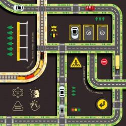 MiDeer Samolepky silnice barevné