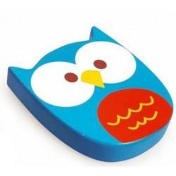 Scratch Chrastící hračka Sovička modrá