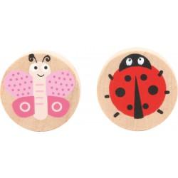 Small Foot Hra dáma s berušky a motýli