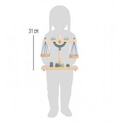Small Foot Misková váha šedomodrá
