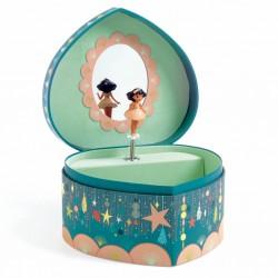 Djeco Hrací skříňka Modré srdce