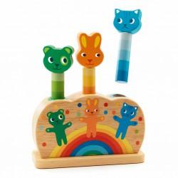 Djeco Dřevěná hračka vyskakovací zvířátka