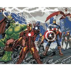 Malování podle čísel - Avengers 40x50 cm, na rámu