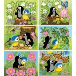 Kostky Krtek a ptáček 12 ks