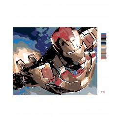 Malování podle čísel - Iron man, na rámu