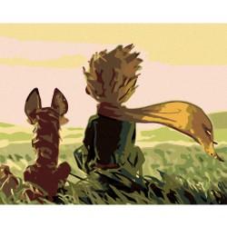 Malování podle čísel - Malý princ s lištičkou, na rámu