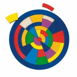 Kulaté puzzle na desce – Barvy