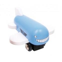 Dřevěné letadlo - modré
