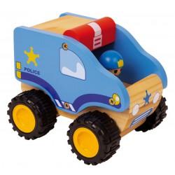 Dřevěné policejní autíčko