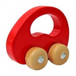Dřevěné autíčko červené