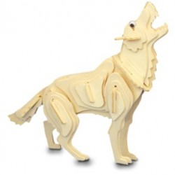 3D Puzzle - Vlk přírodní
