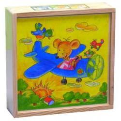 Dřevěné kostky Myška 4 x 4