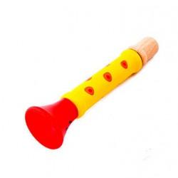 Dřevěná píšťalka - žlutá
