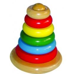 Dřevěná pyramida - kroužky