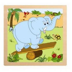 Puzzle ze 4 dílů Slon