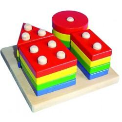 Geometrické tvary - 4 druhy
