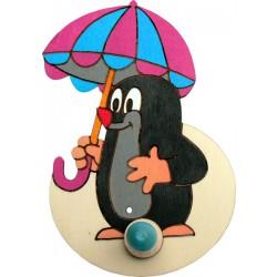 Věšák malý - Krtek s deštníkem
