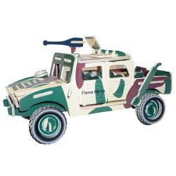 3D Puzzle - Bojové vozidlo barevné