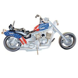 3D Puzzle - Motorka Harley - Davidson barevná II