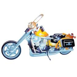 3D Puzzle - Motorka Harley - Davidson barevná