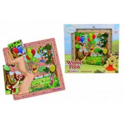 Vkládací puzzle Medvídek Pú 6 dílků