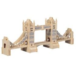 3D Puzzle - Tower Bridge přírodní