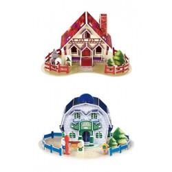 3D Puzzle - Domy, 4 ks