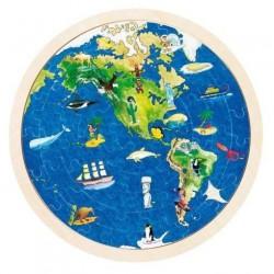 Oboustranné puzzle – Zeměkoule, 57 dílů