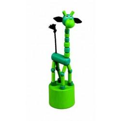 Mačkací figurka Žirafa zelená