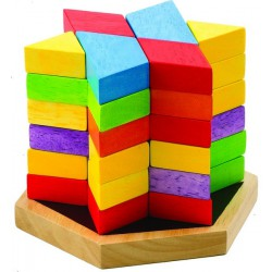 Dřevěné kostky - šestihran