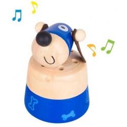 Dřevěné zvířátko se zvuky - Pejsek