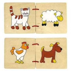 Dřevěná knížka - Domácí zvířata