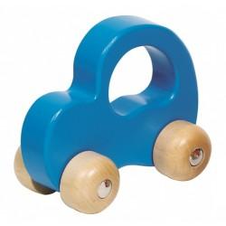 Dřevěné autíčko - světle modré