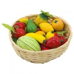 Dětský krámek – ovoce v košíku, 23 ks