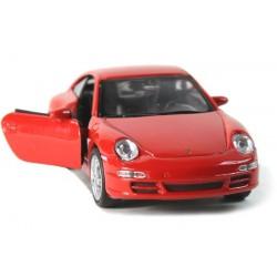 Autíčko se zpětným natahování Porsche 1:34, červené