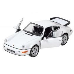 Autíčko se zpětným natahování Porsche 1:34, bílé