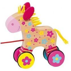 Dřevěná tahací hračka – Koník Susibelle