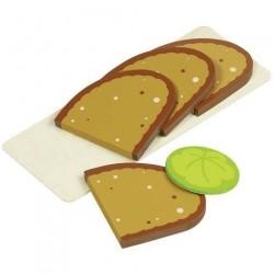 Doplňky pro dětskou kuchyňku – plátky chleba na prkýnku