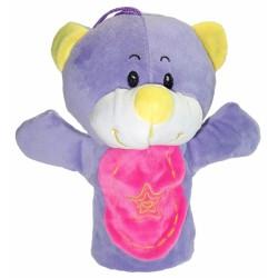 Maňásek na ruku barevný - Medvídek