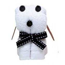 Mini ručník - Pes bílý