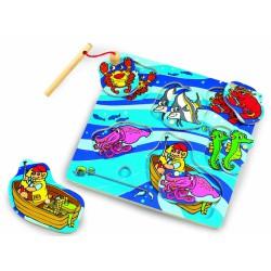 Dřevěné puzzle chytání ryb