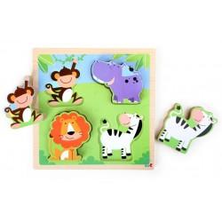Puzzle zvířata zoologické zahrady